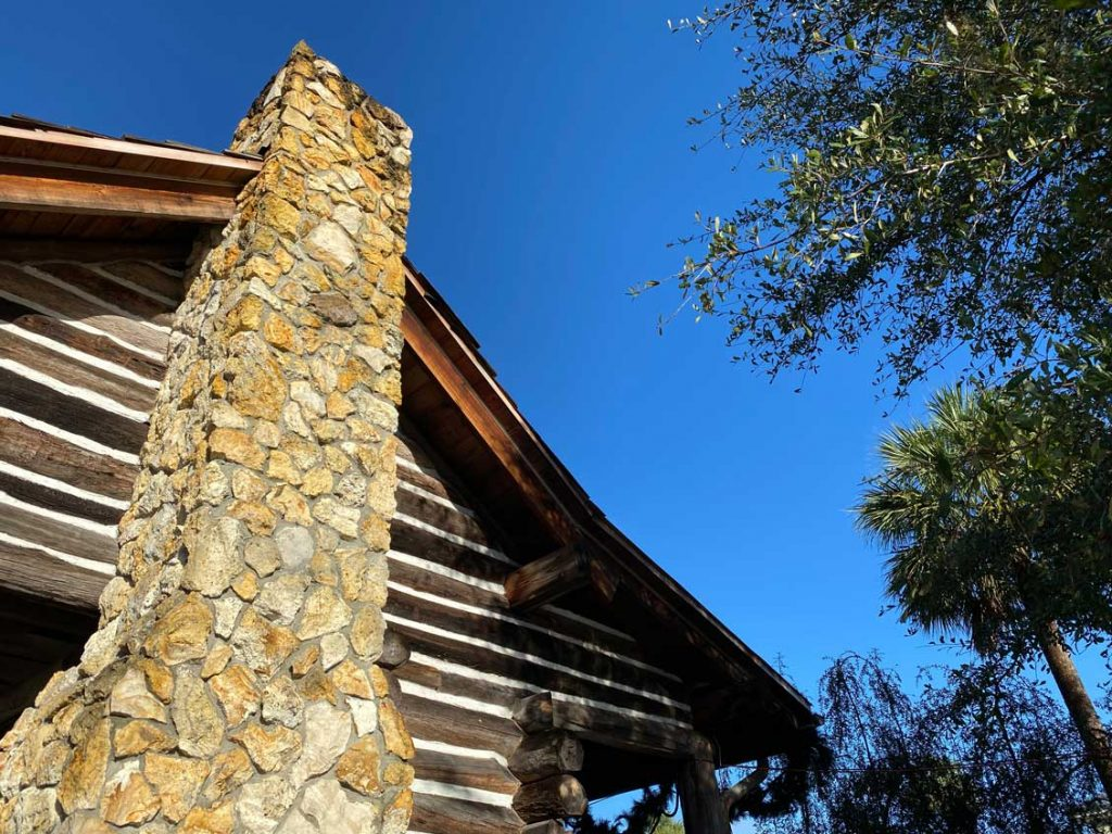 A Stone Chimney Mountain Log Cabin
